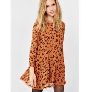 Urban Outfitters Kimchi Blue Floral Orange Dress